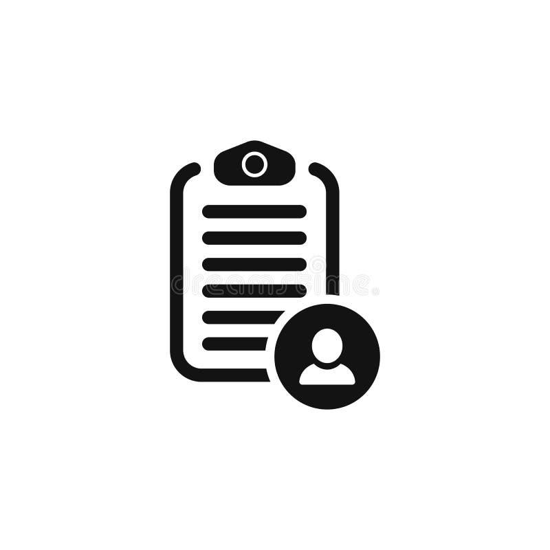 Liste de contrôle avec l'homme d'icône symbole simple EPS10 de vecteur illustration libre de droits