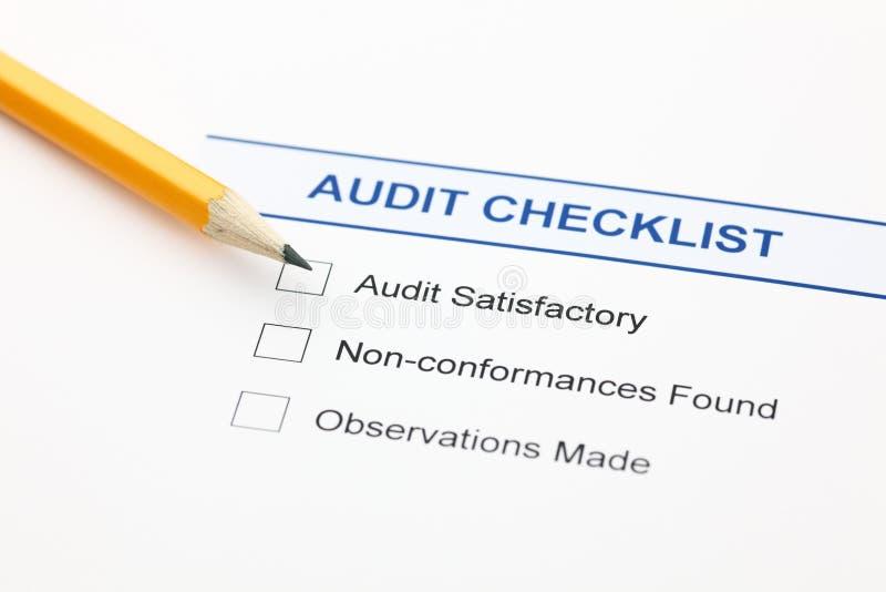 Liste de contrôle d'audit photo stock