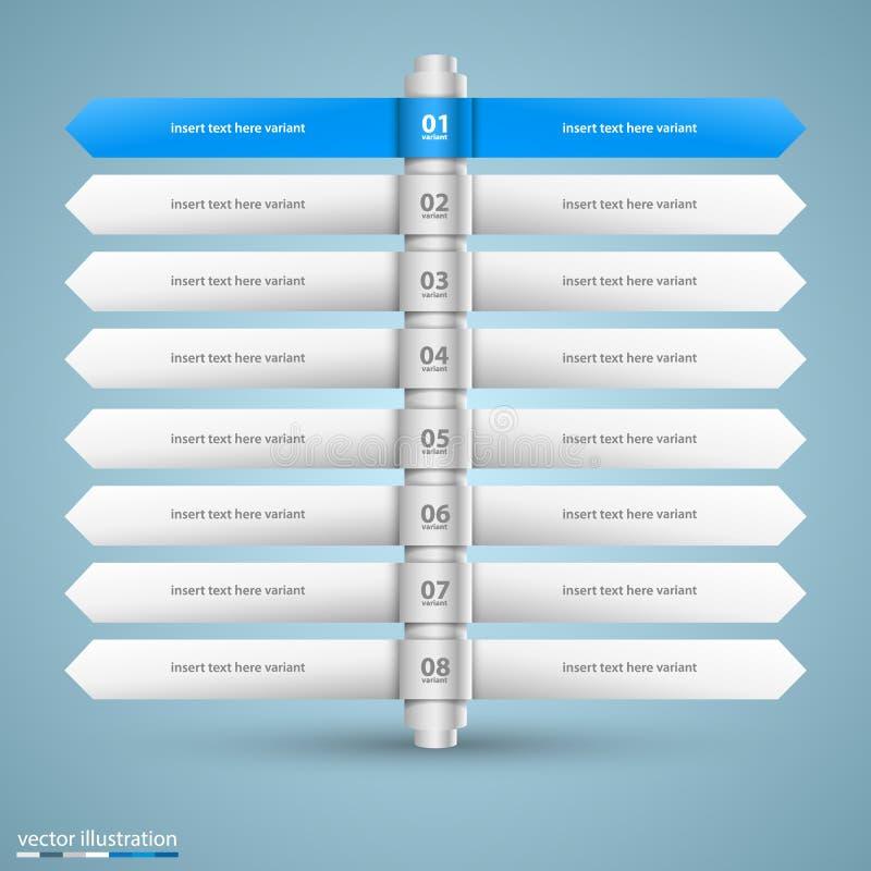 Liste de direction d'infos d'options illustration de vecteur