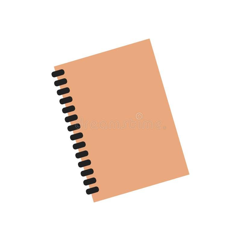 Liste de document de vecteur d'affaires de page de note de papier de journal intime d'organisateur de carnet de planificateur illustration libre de droits