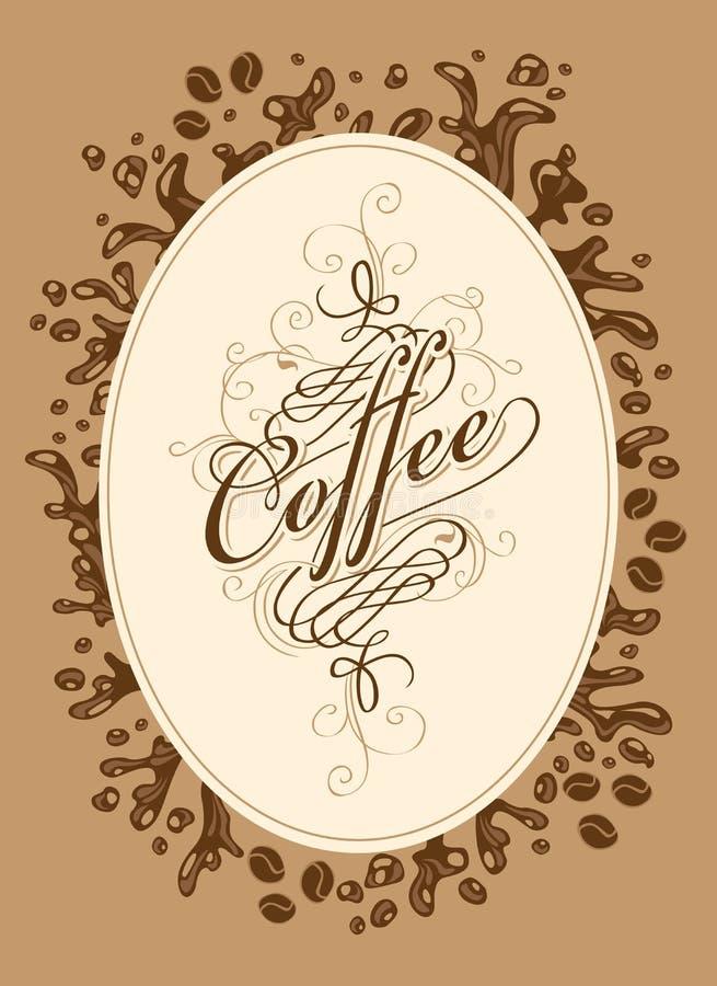Liste de menu pour le café illustration de vecteur