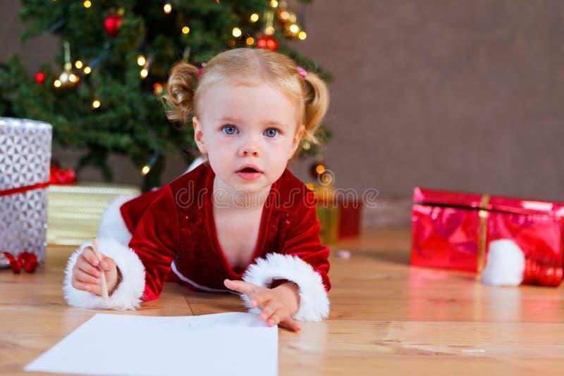 Liste de Noël de souhaits photographie stock libre de droits