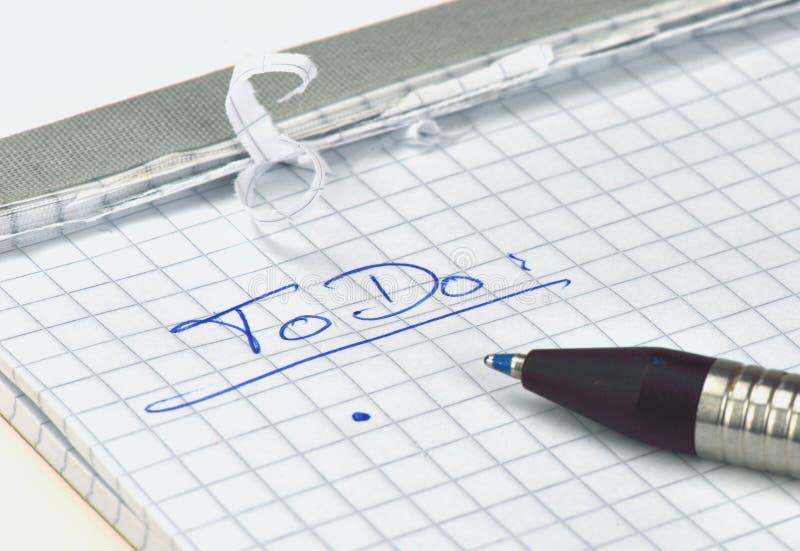 Liste de ToDo image stock