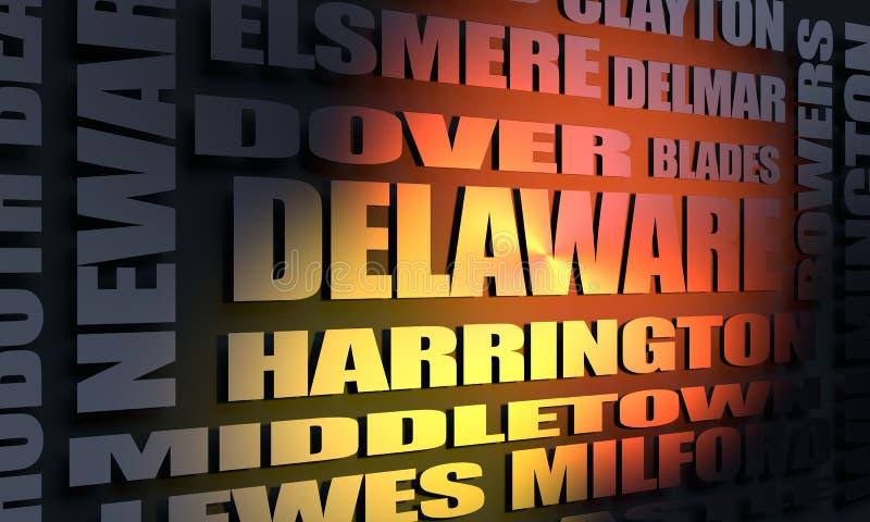 Liste de villes du Delaware illustration libre de droits