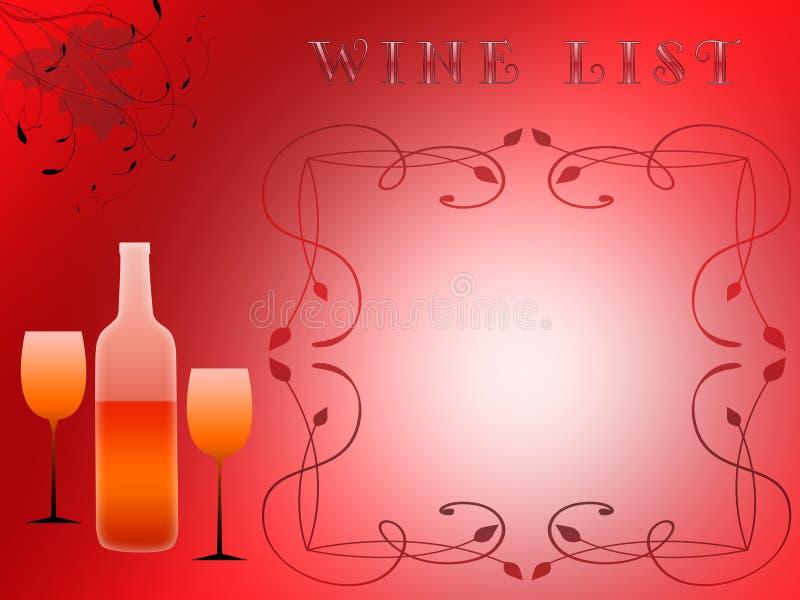 Liste de vin (01) illustration libre de droits