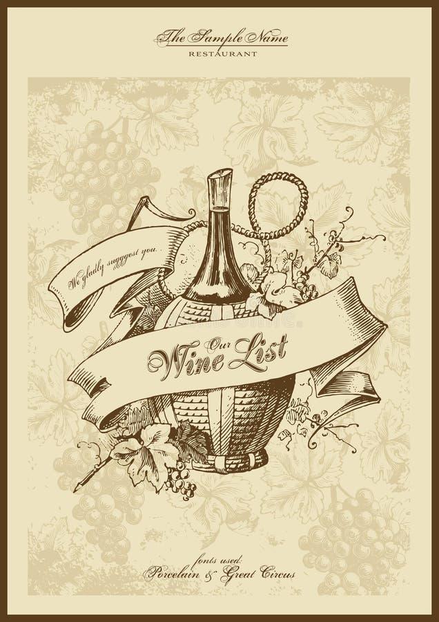 Liste de vin illustration de vecteur