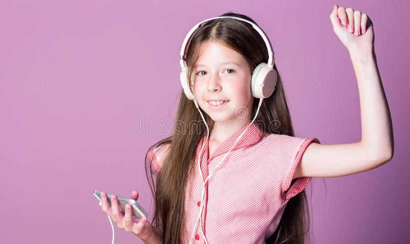 Listen for free. Music subscription. Enjoy music concept. Music app. Audio book. Educative content. Study english stock photo