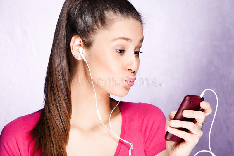 Download Listen music stock image. Image of music, leisure, female - 23376063