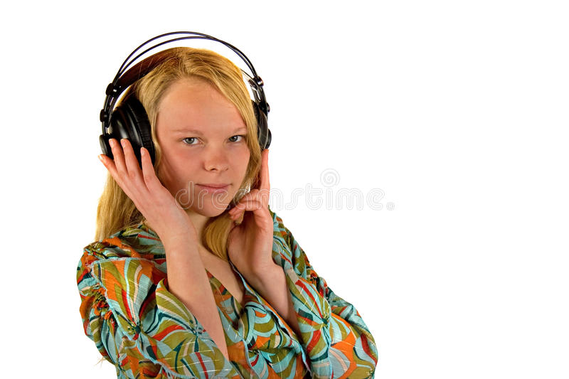 Download Listen to the Music stock photo. Image of space, earphone - 17347062