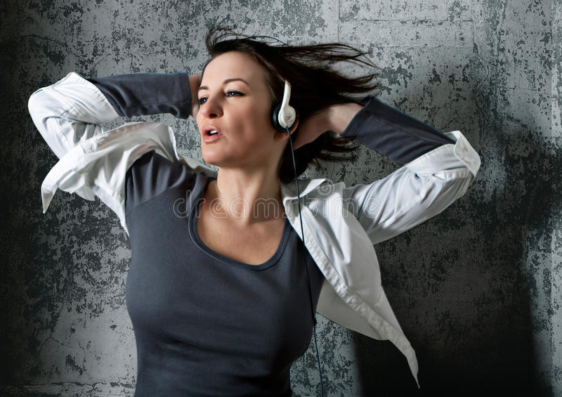 Listen to the music 2_2 royalty free stock images