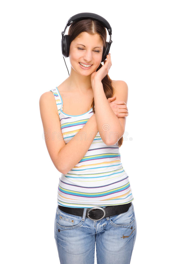 Download Listen to the music stock image. Image of caucasian, people - 24756411