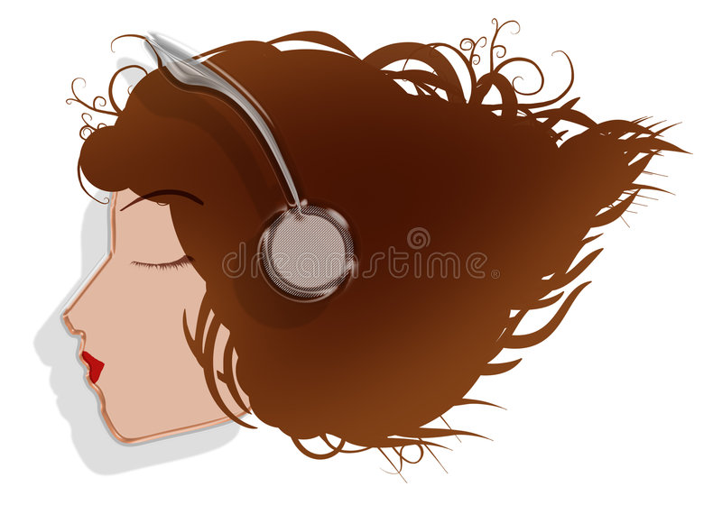 Download Listen to the music stock illustration. Image of musical - 5695887