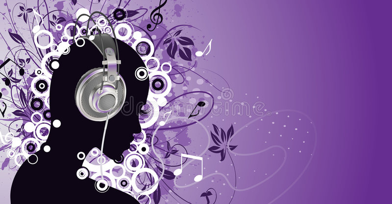 Download Listen to music stock vector. Image of melody, dirty, gradient - 8231723