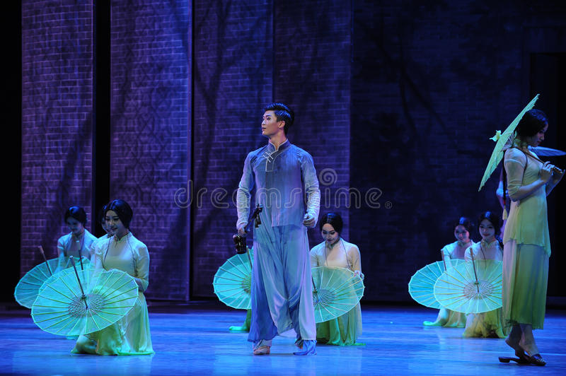 Listen to the rain get inspiration-The second act of dance drama-Shawan events of the past. Guangdong Shawan Town is the hometown of ballet music, the past royalty free stock image