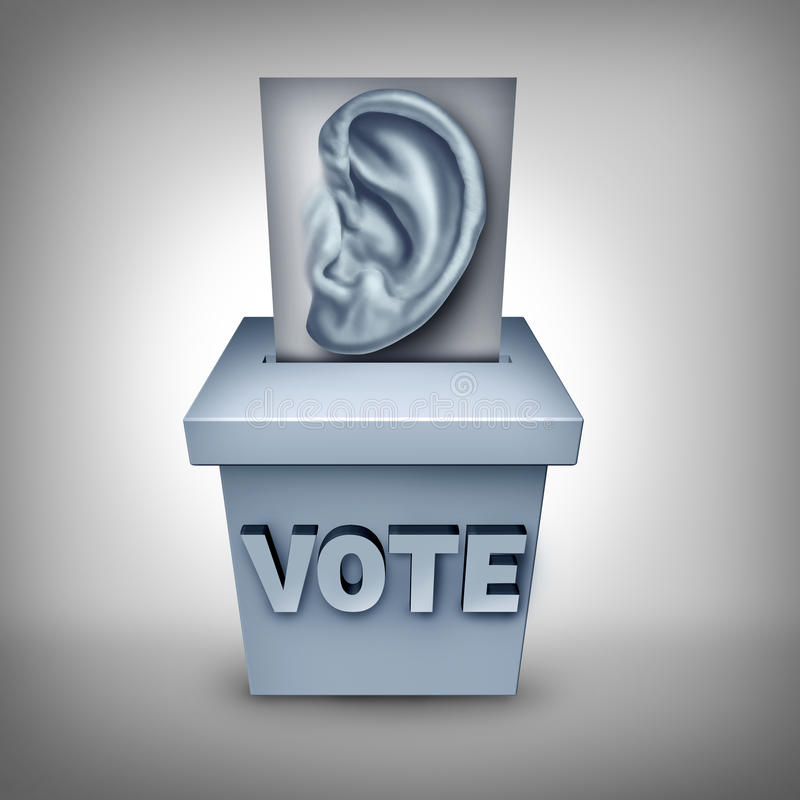 Listen To Voters stock illustration