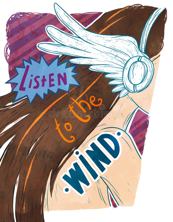 Listen to the wind stock photo