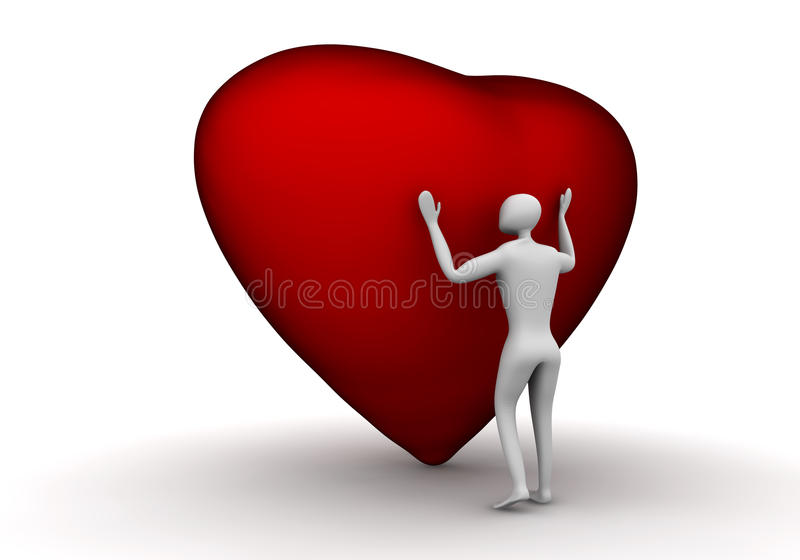 Listen To Your Heart! royalty free stock image