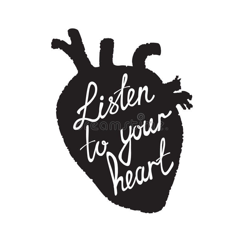 Listen to your heart royalty free illustration