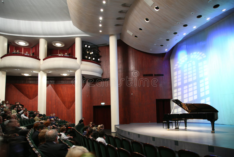 Download Listeners In The Concert Hall Royalty Free Stock Images - Image: 3907239