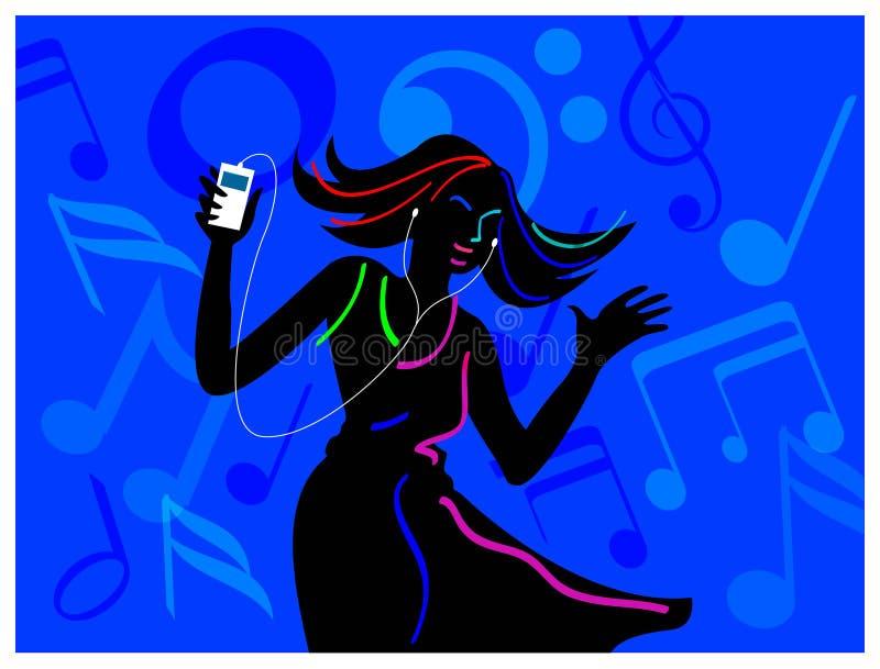 Download Listening and dancing stock vector. Image of design, headphones - 15906769