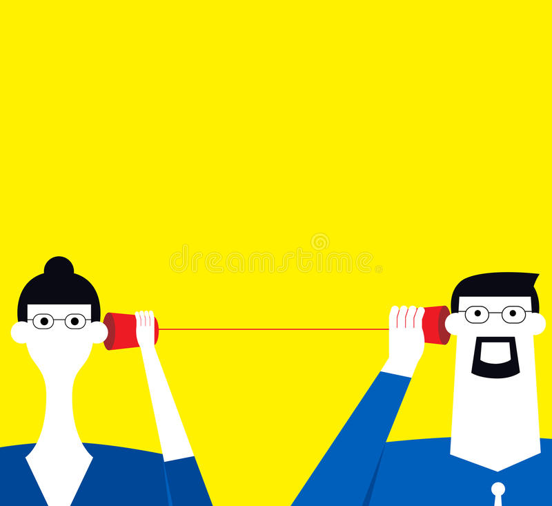 Listening each other. Two business persons listen each other royalty free illustration