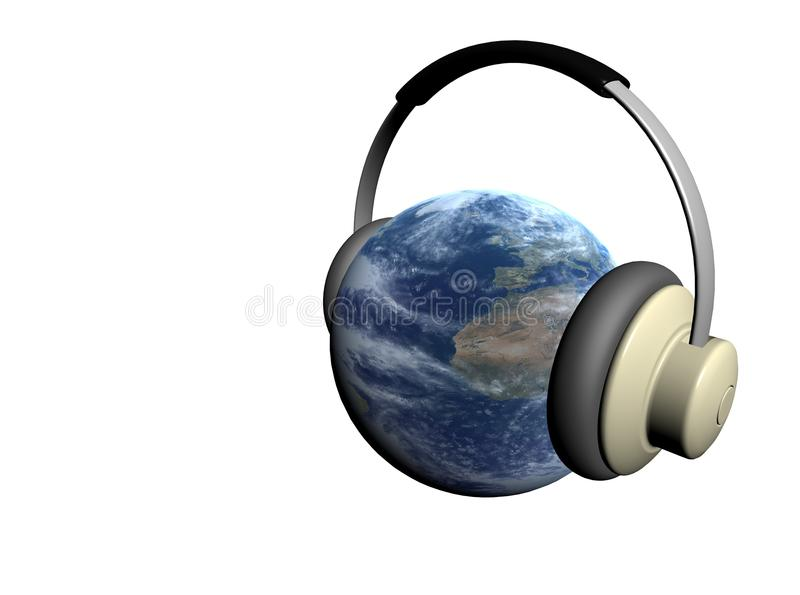 Download Listening music stock illustration. Image of headphone - 11880318