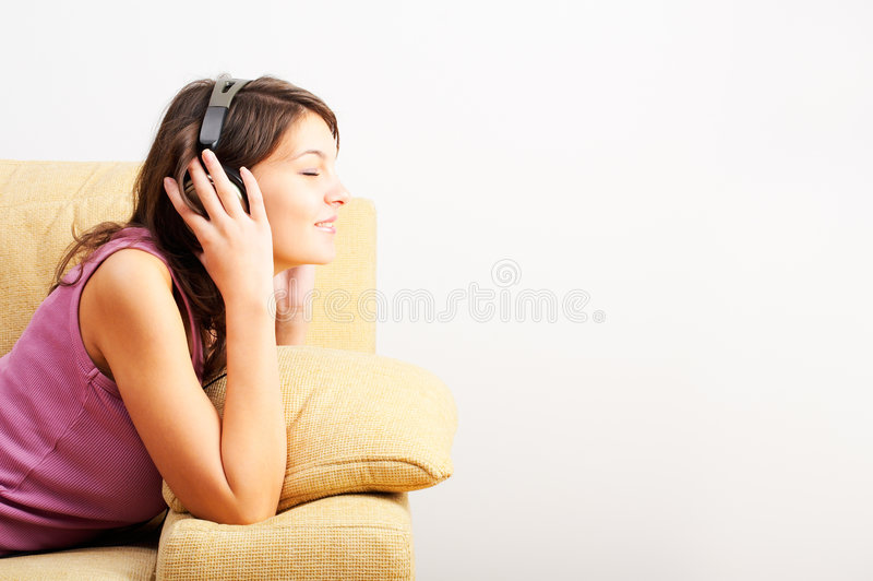 Download Listening Music stock photo. Image of enjoys, years, relaxation - 3643888