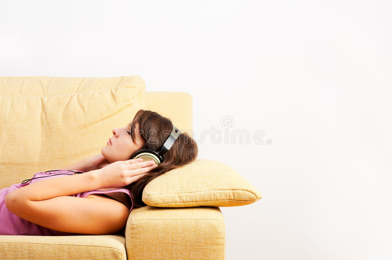 Download Listening Music stock photo. Image of down, relaxation - 3643900