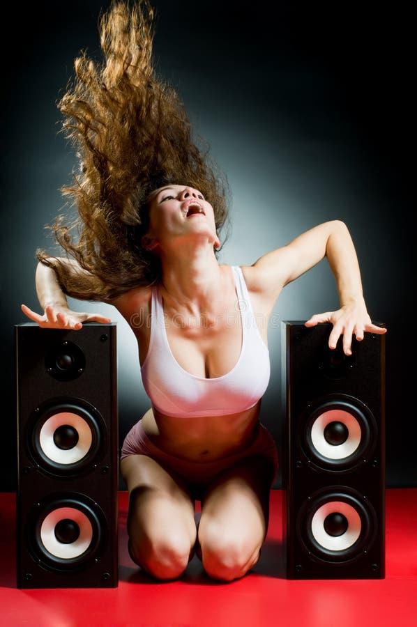 listening music στοκ εικόνα