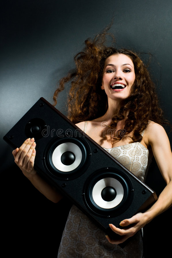 listening music στοκ εικόνα με δικαίωμα ελεύθερης χρήσης