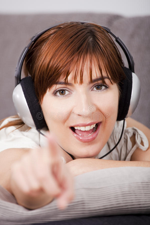 Download Listening music at home stock photo. Image of comfortable - 15048748