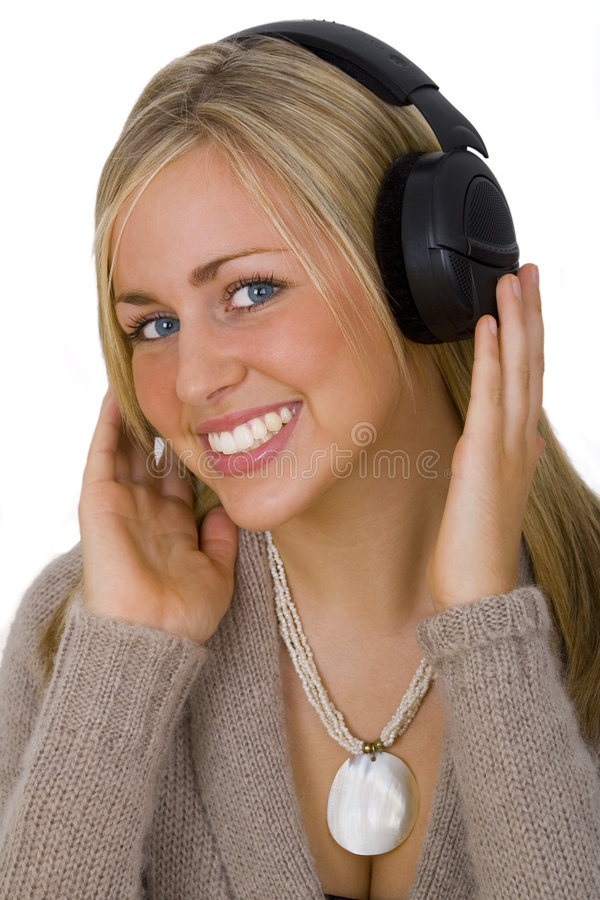Listening & Smiling royalty free stock photos