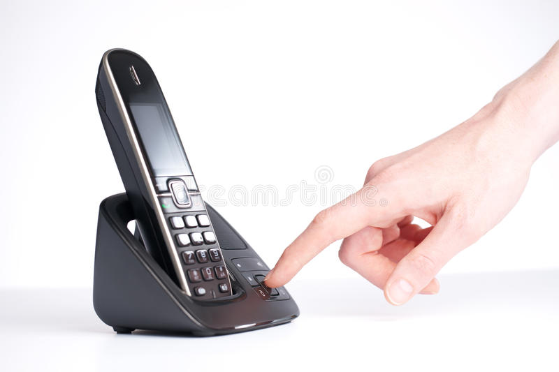 Download Listening To An Answering Machine Stock Image - Image: 25568771