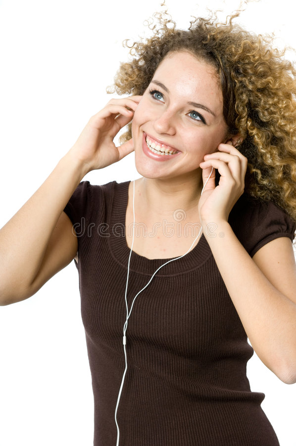 Listening to an MP3 player