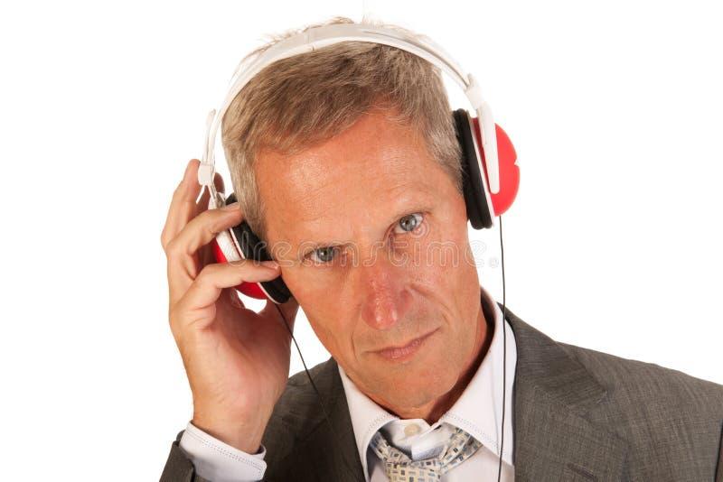 Download Listening to music stock image. Image of necktie, portrait - 26917223