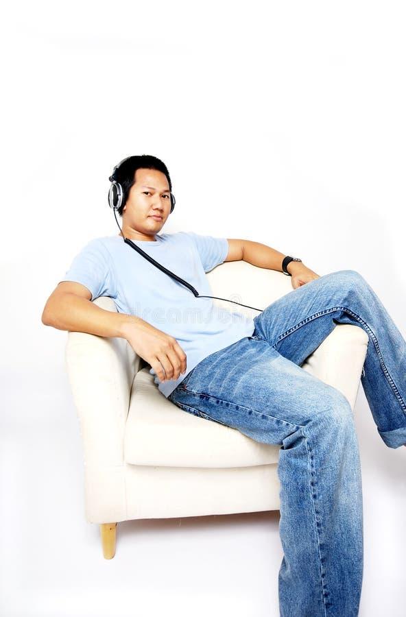 Listening to music stock photos