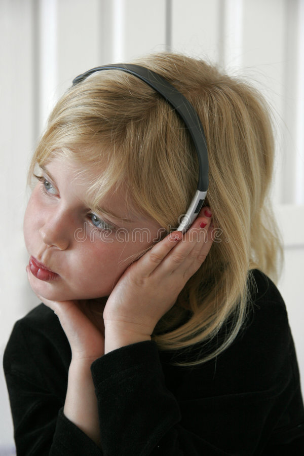 Download Listening to Music stock image. Image of concentration, concentrate - 60679
