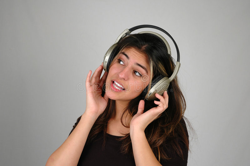 Download Listening to music-9 stock image. Image of female, music - 59833