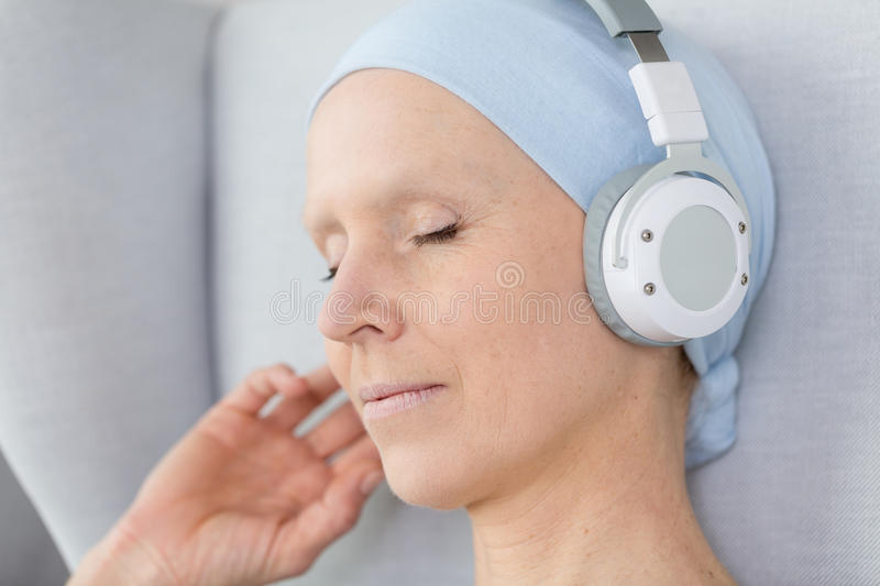 Listening to music royalty free stock photos