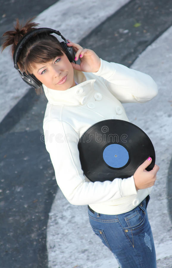 Download Listening To The Music On The Street Stock Image - Image: 21586999