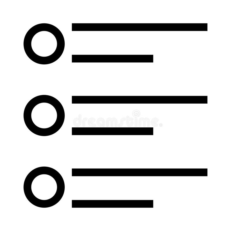Listenvektorlinie Ikone stock abbildung