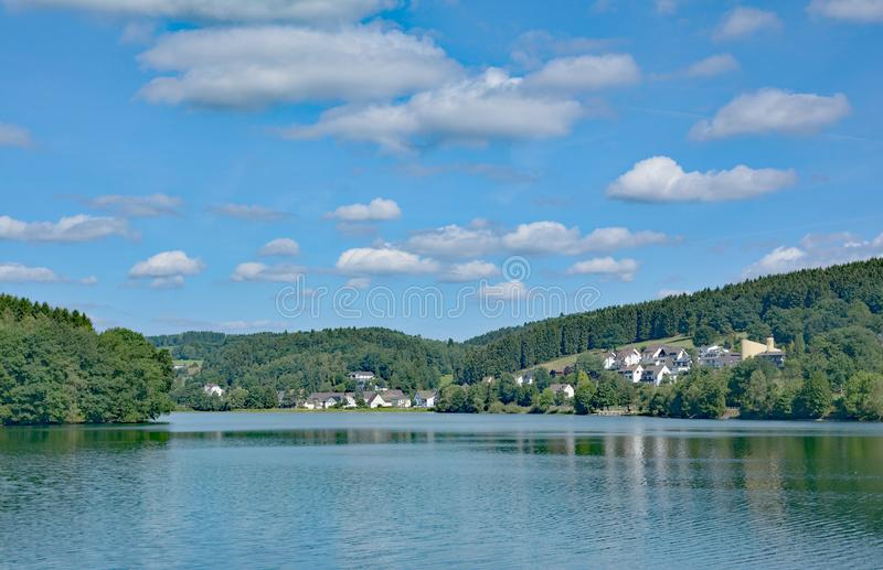 Listerstausee Reservoir,Sauerland,Germany royalty free stock images