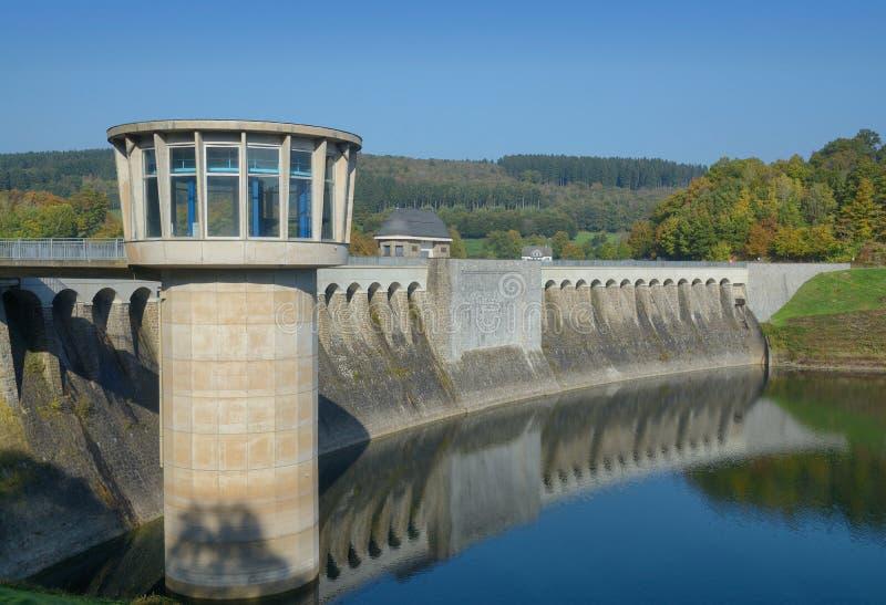 Listertalsperre i Biggesee rezerwuar, Sauerland, Niemcy fotografia royalty free