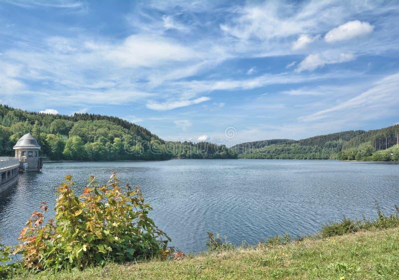Listertalsperre, Reservoir,Sauerland,Germany stock photo