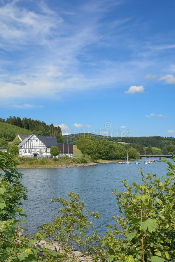 Listertalsperre Reservoir,Sauerland,Germany stock photography