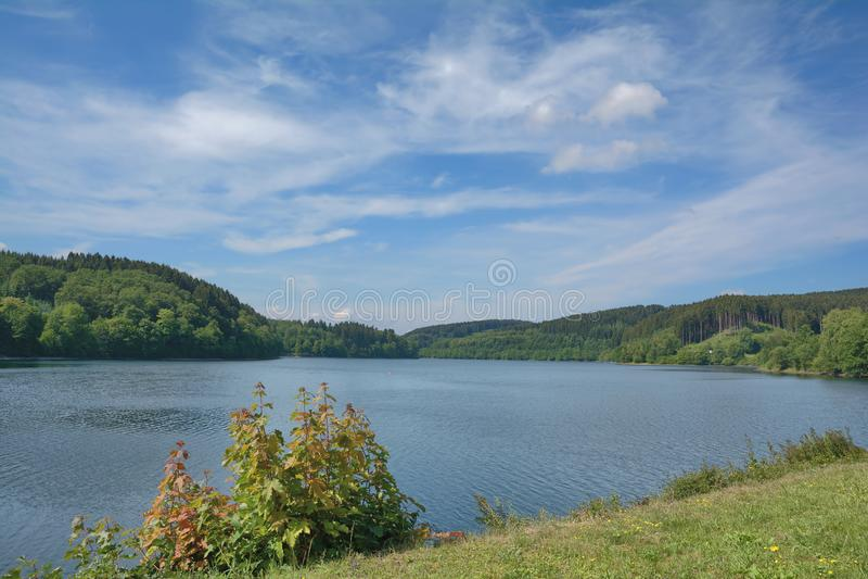 Listertalsperre Reservoir,Sauerland,Germany stock image