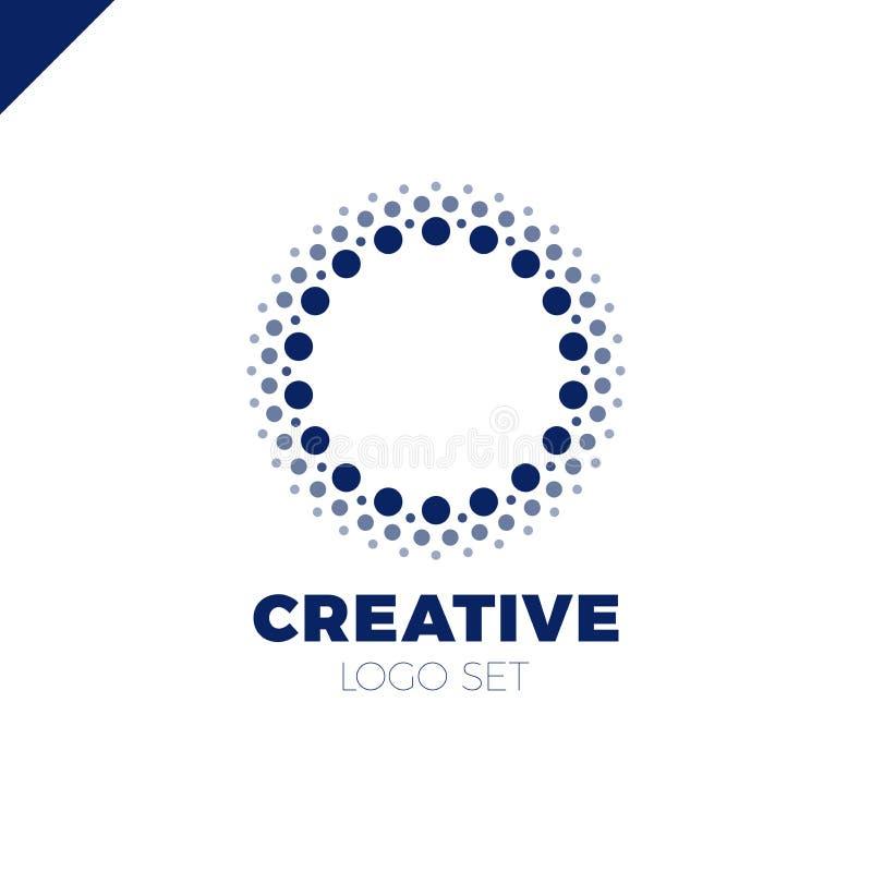Listo y creativo, puntos o logotipo de la letra O del punto Smart y logotipo de la idea ilustración del vector