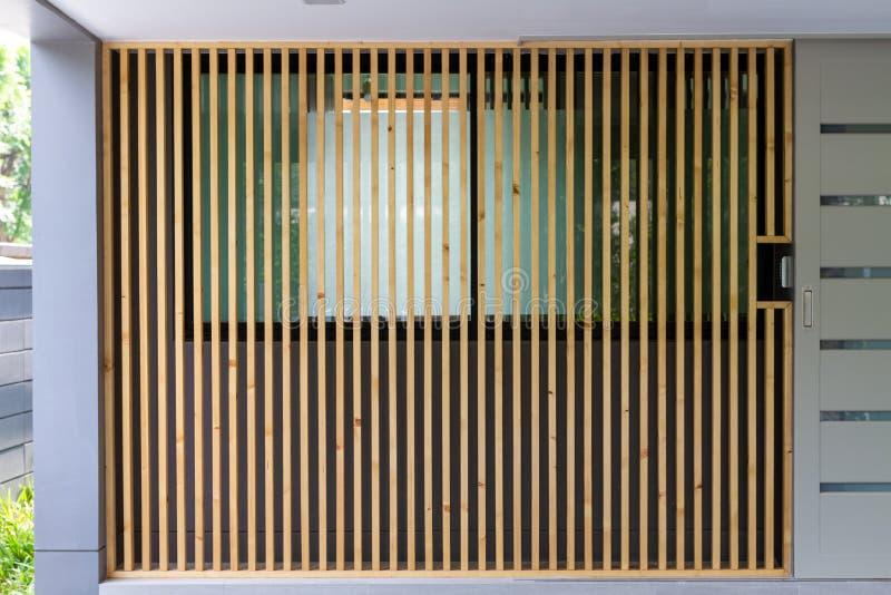 Listones de madera marrones grandes foto de archivo