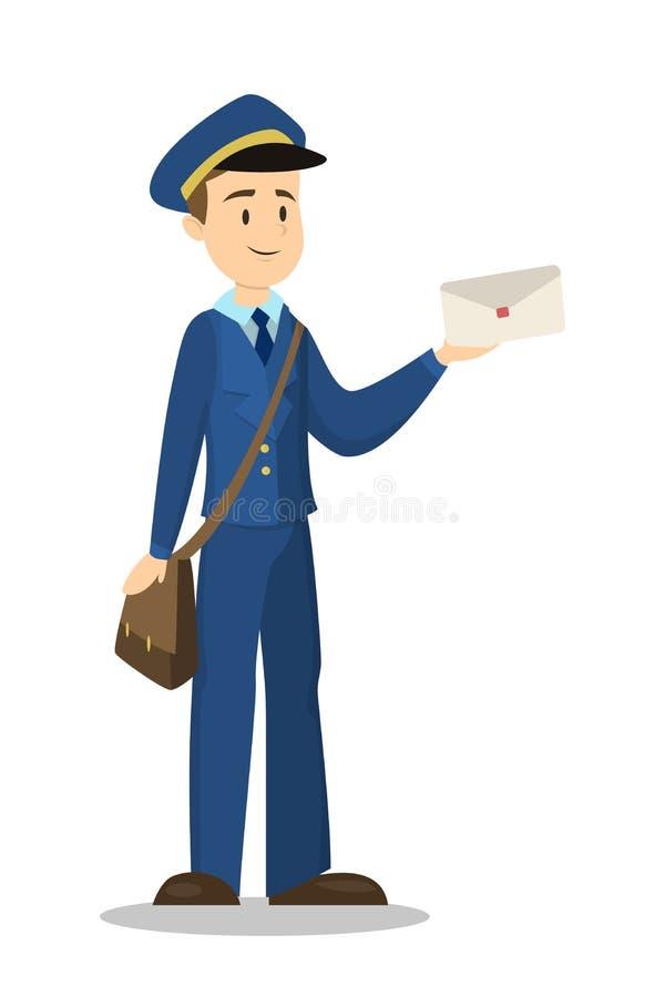 Listonosz z kopertą ilustracji