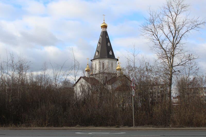 Listopad 2018 Rosja Moskwa Oblast Nied?wied? jeziora Ko?cielni obraz royalty free